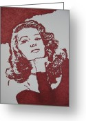Hayworth Greeting Cards - Rita Greeting Card by Lynet McDonald
