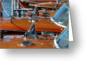 Club Greeting Cards - Riva Runabouts Greeting Card by Steven Lapkin