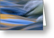Water Photo Greeting Cards - River Greeting Card by Silke Magino