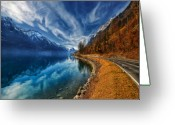 Fathers Greeting Cards - Road To No Regret Greeting Card by Philippe Sainte-Laudy