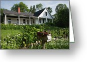 Back Porch Greeting Cards - Robert Frost Homestead - Franconia New Hampshire USA Greeting Card by Erin Paul Donovan
