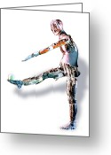 Mechanical Greeting Cards - Robot Mannequin Greeting Card by DOE / Science Source