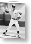 Glove Greeting Cards - Rollie Fingers (1946- ) Greeting Card by Granger