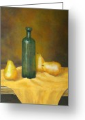 Terra Greeting Cards - Roman Table Greeting Card by Pamela Allegretto