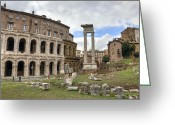Archeology Greeting Cards - Rome - Theatre of marcellus Greeting Card by Joana Kruse