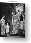 Martyr Photo Greeting Cards - Rome: Christian Widow Greeting Card by Granger