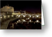 Baroque Greeting Cards - Rome ponte san angelo Greeting Card by Joana Kruse
