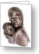 Emotion Sculpture Greeting Cards - Roots Greeting Card by Wayne Niemi