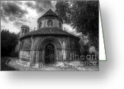 Unique Door Greeting Cards - Round Church Of The Holy Sepulchre Greeting Card by Yhun Suarez