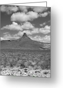 Oatman Greeting Cards - Route 66 - Arizona Mountain Greeting Card by Frank Romeo