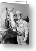 Wild West Greeting Cards - Roy Rogers (1912-1998) Greeting Card by Granger