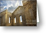 Eire Greeting Cards - Ruins of a church in South Glengarry Greeting Card by Sandra Cunningham