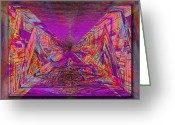 Violet Blue Digital Art Greeting Cards - Rumblings Within Greeting Card by Tim Allen