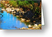 Gerlinde-keating Greeting Cards - Running Waters  Greeting Card by Gerlinde Keating - Keating Associates Inc