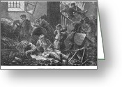 Intoxicated Greeting Cards - Russia: Pogrom, 1881 Greeting Card by Granger