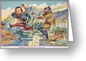 Cyrillic Greeting Cards - RUSSO-JAPANESE WAR, c1905 Greeting Card by Granger