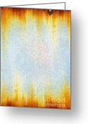 Surface Greeting Cards - Rusty background Greeting Card by Carlos Caetano