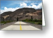 Yellow Line Greeting Cards - Ruta 51 Argentina Greeting Card by Image by C
