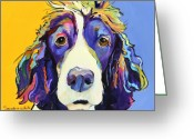 Blue Eyes Greeting Cards - Sadie Greeting Card by Pat Saunders-White