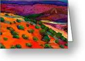 Contemporary Greeting Cards - Sage Slopes Greeting Card by Johnathan Harris