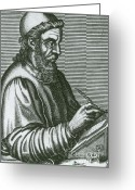 Venerable Greeting Cards - Saint Bede The Venerable Greeting Card by Science Source