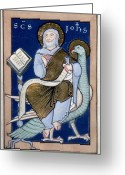 12th Century Greeting Cards - Saint John Greeting Card by Granger