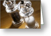 Grinders Greeting Cards - Salt And Pepper Mills Greeting Card by Mark Sykes