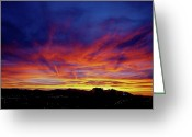 Vibrant Photo Greeting Cards - Salt Lake City Sunset Greeting Card by Rona Black