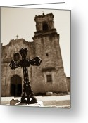 Convent Greeting Cards - San Antonio Greeting Card by Sebastian Musial