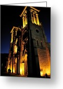 Religious Building Greeting Cards - San Fernando Cathedral Greeting Card by Iris Greenwell