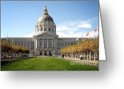 Bay Area Greeting Cards - San Francisco City Hall - Beaux Arts at its best Greeting Card by Christine Till