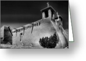Adobe Architecture Greeting Cards - San Francisco de Asis Church IV Greeting Card by Steven Ainsworth