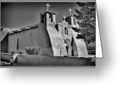 Assisi Greeting Cards - San Francisco de Asis Mission Church Greeting Card by David Patterson