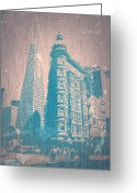 Bay Area Greeting Cards - San Fransisco Greeting Card by Irina  March