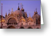 Basilica San Marco Greeting Cards - San Marco Greeting Card by Brian Jannsen