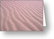 Arid Climate Greeting Cards - Sand Ripples Greeting Card by John Foxx