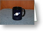 Surrealism Ceramics Greeting Cards - Saturn Custom photo reproduction Coffee mug- Side A Greeting Card by Ryan Demaree