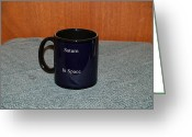 Surrealism Ceramics Greeting Cards - Saturn Custom photo reproduction Coffee mug- Side B Greeting Card by Ryan Demaree