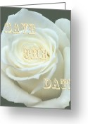 Formal Mixed Media Greeting Cards - Save The Date Card Greeting Card by Debra     Vatalaro