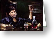 Movie Greeting Cards - Scarface Greeting Card by Ylli Haruni
