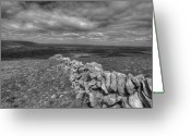Kinvarra Greeting Cards - Scenic Burren landscape Greeting Card by John Quinn