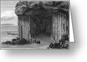 Cavern Greeting Cards - Scotland: Fingals Cave Greeting Card by Granger