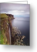 Sea Greeting Cards - Scotland Kilt Rock Greeting Card by Nina Papiorek