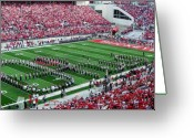 Football Photo Greeting Cards - Script Ohio Greeting Card by Peter  McIntosh