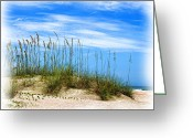 Sea Oats Digital Art Greeting Cards - Sea Oats On The Dune Greeting Card by Deborah Boyd