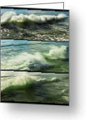 Seaview Greeting Cards - Sea Waves Greeting Card by Svetlana Sewell