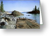 Caron Greeting Cards - Seclusion Greeting Card by Douglas Hunt