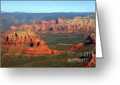 Mountain Peaks Greeting Cards - Sedona  Greeting Card by Julie Lueders