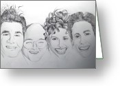 Seinfeld Greeting Cards - Seinfeld Greeting Card by Ben Jackson