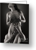 Covering Greeting Cards - Sensual Photo of Man and Woman Greeting Card by Oleksiy Maksymenko